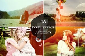 45 Insta Effect Photoshop Actions by symufa