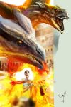 Game of Thrones - Dragon 2 by danielgrell23