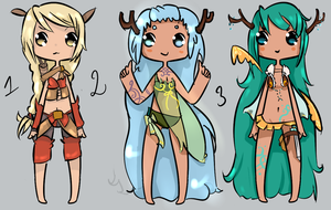 Adoptable group 2 (Auction) - CLOSED by Nelliette