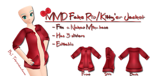 MMD Fake Rio-Kitty'er Jacket by Tehrainbowllama