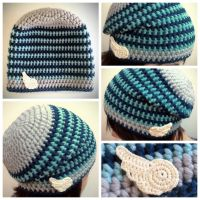 Crocheted winged hat by Sefi