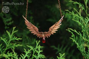 Copper necklace wings by TMVanadis