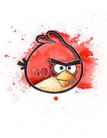 An Angry Bird by LukeFielding
