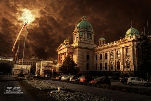 Serbia Parliament by Dzodan