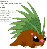 Vinespine 'fakemon' by BehindClosedEyes00