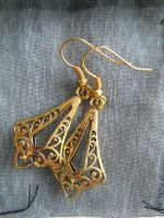Golden earrings ''Goutte'' by Dedechoutinette