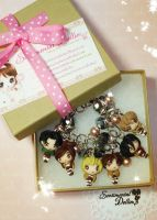 Attack on Titan Kawaii Chibi Bracelet by SentimentalDolliez