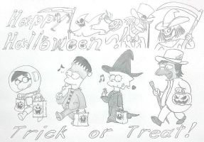 The Simpsons: Halloween Kids by komi114