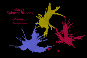 Splatter Brushes by pink-gizzy