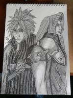 Adevnt Children Sephiroth and Cloud finished by lustyvampire