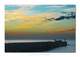 Fishermen at La Marbella by velocista