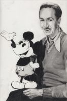Walt Disney with Mickey Mouse by Maria18Borodina
