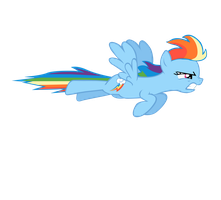 Rainbow Dash Dashing by BonesWolbach