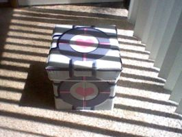 Portal Companion Cube  Box by Enlightenup23