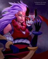 Blood Moon Diana by SteveMillersArt