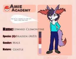 Amie Academy Application: Edward Clemontine by Sahara-Fang