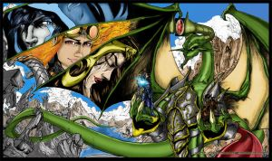 Nicol Bolas and Pals By: creatorpwned Coloured by Highlander0423