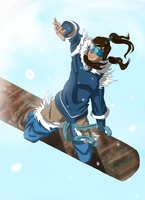 Korra the Snowboarder by donkeyshygal