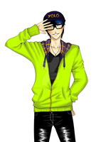 OC:. Hipster Kaito by JulieFF