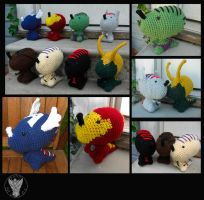 Avenger-Saurus Assemble! by TheCrochetDragon