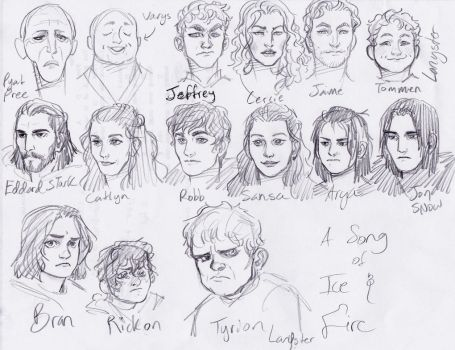 ASoIaF Cast by Lillooler