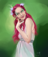 Pink - Paint Sketch 2013-10-20 by iamnie
