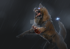 Rain and Blood by Silce-Wolf