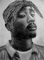 2Pac by earlierbirdscenic