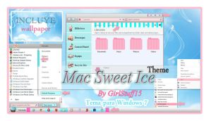 Theme Mac Sweet Ice Windows 7 n.n by girlstuff15