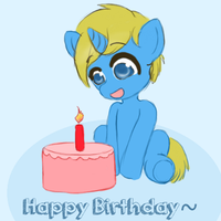 Birthday pony by Pastel Hime by cookiejoe1