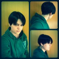 Levi Hairstyle - 2nd try :D by Kawaii-Fruit