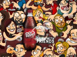 Dr. Pepper with Friends by cgianelloni
