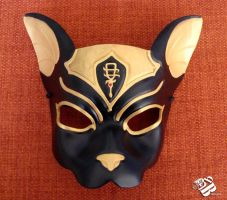 Egyptian Bastet Leather Cat Mask by senorwong