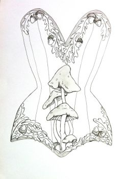 Fairy corset design by RobynGoodfellow