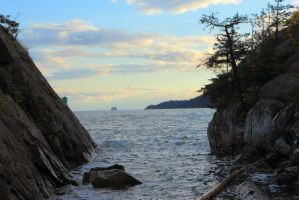 Furtive View From A Secret Cove by mordenglory