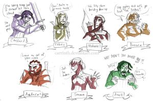 DA2: Warden Reactions (Mild spoilers) by carrinth