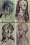Pencil drawings by Ni-nig