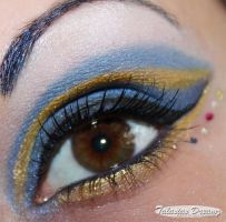 Sailor Uranus inspired make up by Talasia85