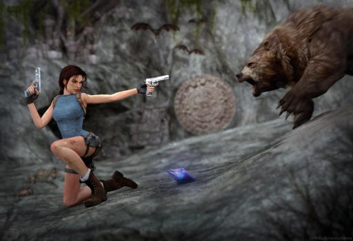 Tomb Raider Anniversary - Fight with bear by Larreks