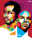 Manny Pacquiao and Floyd Mayweather, Jr in WPAP by dhe-art