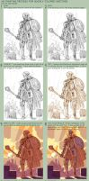 Painted Sketch Process by Jebriodo