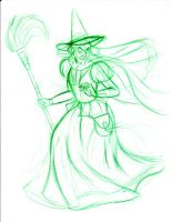 The Wicked Witch-sketch by DisneyFan-01