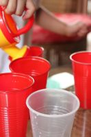 watering can and cups by blubooelle