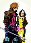 90's Gambit and Rogue by PsychedelicHeroin