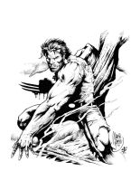 wolvie inked by darnet