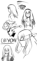 Chiyome sketches by xCaeli