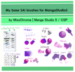 Manga Studio 5/ clip studio default SAI BRUSH by MissChroma