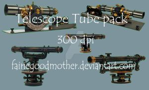 Antique Compass Tube Pack 2 by FairieGoodMother