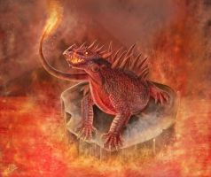 Fire Lizard by CLB-Raveneye