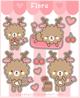 Flora stickers by SqueakyToybox